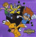 Ubrousky 33x33 cm Digimon