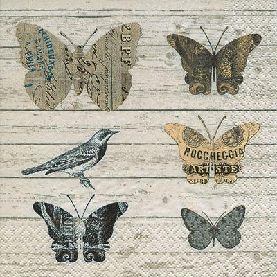 Ubrousek 33 x 33 cm MOTÝLI Paper Design