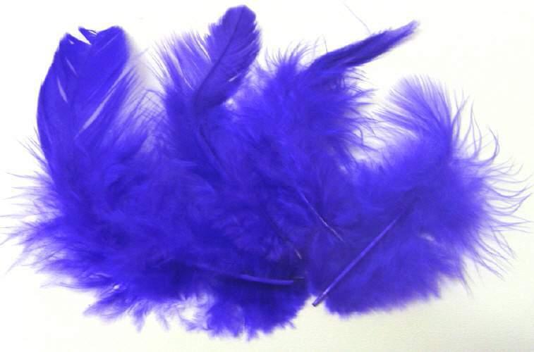 Peříčka tmavě fialová 150ks