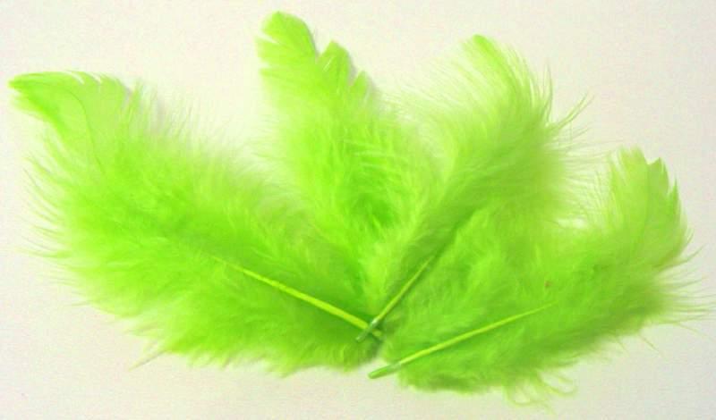 Peříčka sv. zelená cca 220ks - 10g