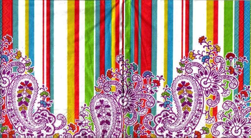 Ubrousek 33x33 cm PRUHY Paper Design