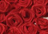 Růžička na Scrapbooking ČERVENÉ  Ø13-15 mm  - 1ks