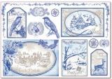 Rýžový papír ZIMA 48 x 33 cm